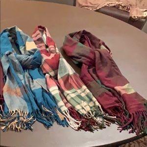 Winter cashmere like scarves
